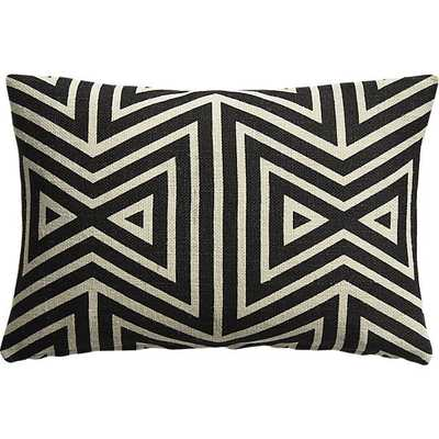 """Apani 18""""x12"""" pillow with feather-down insert - CB2"""