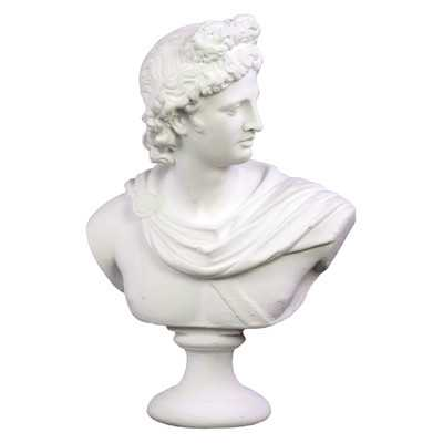 "Cement Greek Deity Apollo Bust on a Pedestal - 13"" H / White - Wayfair"
