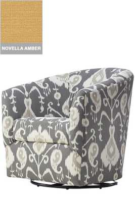 CUSTOM COLIN UPHOLSTERED SWIVEL CHAIR - Novella Amber (Not shown in picture) - Home Decorators