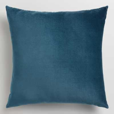 "Midnight Blue 18"" Velvet Throw Pillow-with insert - World Market/Cost Plus"
