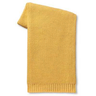 Solid Sweater Knit Throw Blanket - Yellow - Target