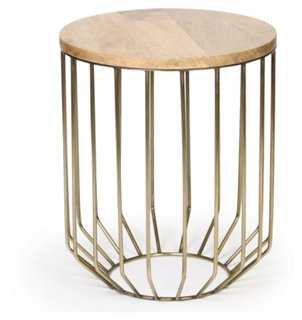 Giorgio Side Table, Brass - One Kings Lane