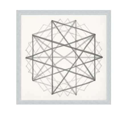 "Neutral Sacred Geometry Framed Print 2- 27.50"" square - Silver Frame - No mat - Pottery Barn"