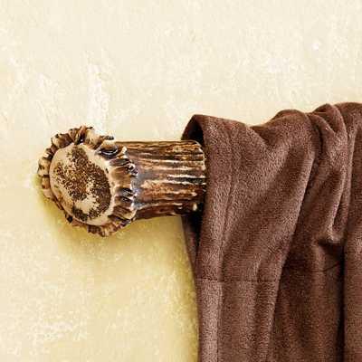 Antler Curtain Rod Ends - Pair - blackforestdecor.com