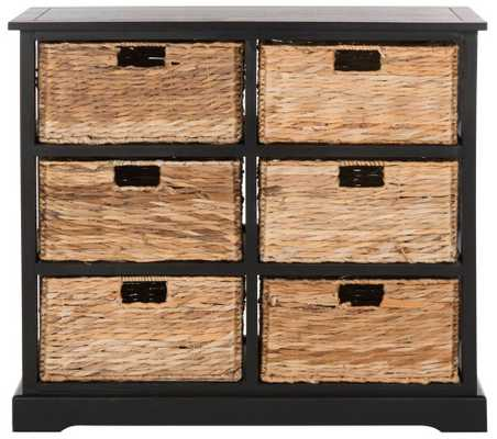 Andy 6 Basket Storage Chest - Domino