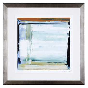Blue And Green 1 - Limited Edition - 31x31, Framed - Z Gallerie