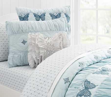 Windsor Butterfly Quilted Bedding - Twin - Pottery Barn Kids