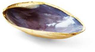 18-Kt Rose-Gold-Plated Oyster Shell - One Kings Lane