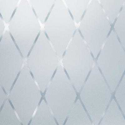 Privacy Control Frosted Lattice Window Film - Home Depot