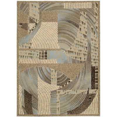 Nourison Modesto Abstract Beige Area Rug (7'10 x 10'6) - Overstock
