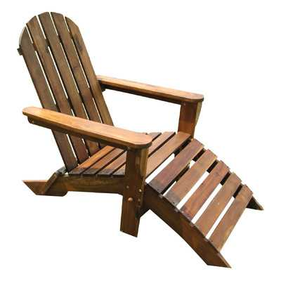 Adirondack Chair with Footrest - Wayfair