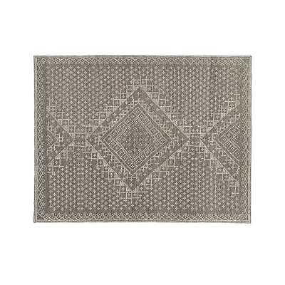 Mirren Grey Wool Oriental Rug - Crate and Barrel