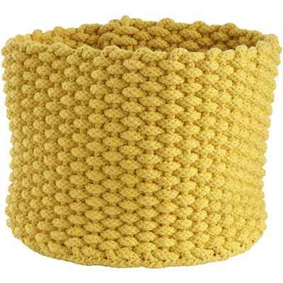Small Yellow Kneatly Knit Rope Bin - Land of Nod