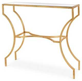 Amber Console Table, Gold - One Kings Lane