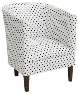 Troy Tub Chair, Black Spots - One Kings Lane