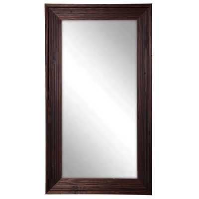 Rayne Brown Barnwood Tall Mirror - Overstock