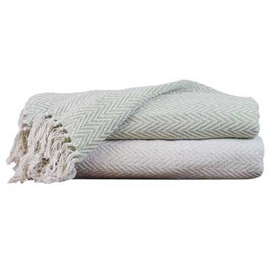 Chevron Cotton Throw Blanket by Amrapur - AllModern