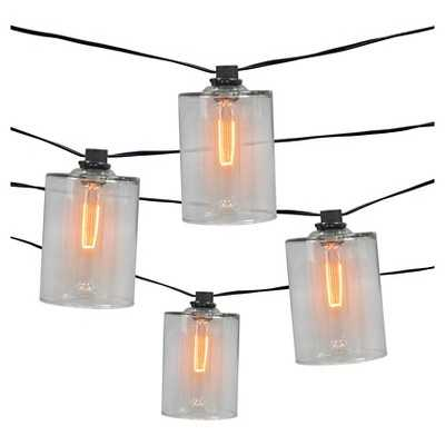 Smith & Hawken 10ct Decorative String Lights Glass Cover with Edison Bulb - Target