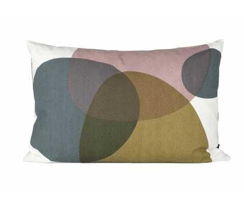 Melt Cushion - Small - 60cm L X 40cm W - Feather/Down fill - Domino