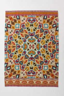 "Flutter Pattern Rug-8""x10""-Multi - Anthropologie"
