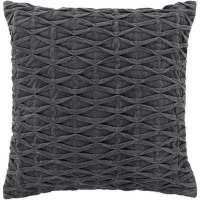 "Textured Contemporary Cotton Throw Pillow - 18""sq. Down/Feather insert - AllModern"