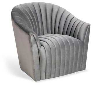 Channel Chair, Silver - One Kings Lane