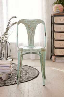Painted Industrial Chair - Mint - Urban Outfitters
