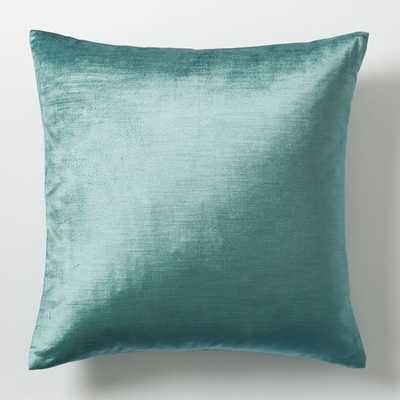 Luster Velvet Pillow Cover - 20x20 - Insert Sold Separately - West Elm