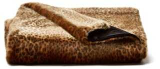 Faux-Fur Throw, Java Leopard - One Kings Lane