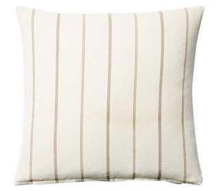 """Striped Cotton Pillow-20"""" x 20""""-feather Insert - One Kings Lane"""