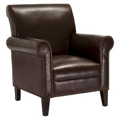 Richard Studded Club Chair - Chocolate Brown - Christopher Knight Home - Target
