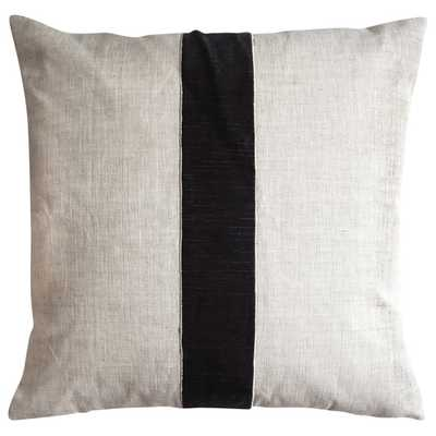 LINEN STRIPE DECORATIVE PILLOW OATMEAL-22W x 22H-Insert Sold Separately - HD Buttercup