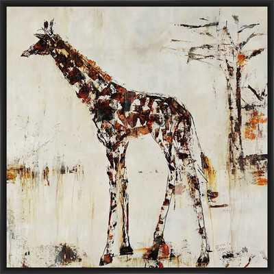 'Giraffe Attack' Inverse Framed Painting Print - Wayfair