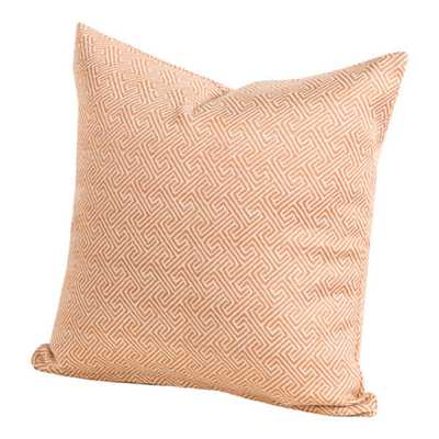 "Long Beach indoor/Outdoor Accent Pillow - Brown/Orange - 20""w x 20""l - Down Alternative Insert - Overstock"