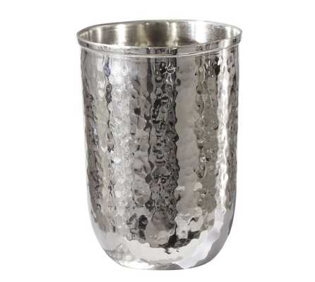 Hammered Nickel Bath Accessories - Tumbler - Pottery Barn