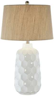 Kathy Ireland Honeycomb White Ceramic Table Lamp - Lamps Plus