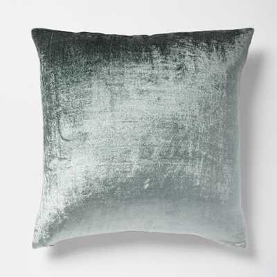 "Ombre Velvet Pillow Cover - Blue Stone, 18""sq, No insert - West Elm"