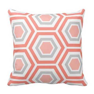 Modern Hexagon Pattern Pillow - zazzle.com