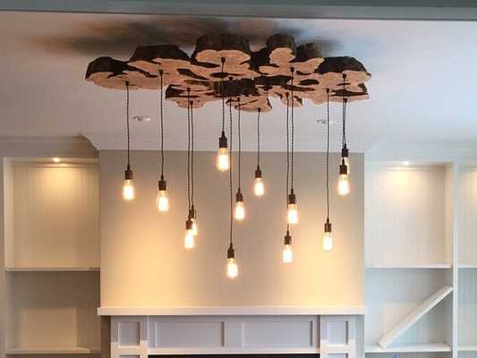 Twisted Fabric Wire Chandelier - Etsy
