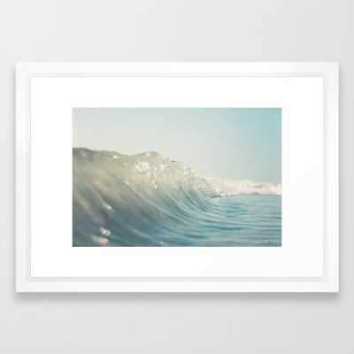 "Ocean Wave - 21"" X 15"" - Framed - Society6"