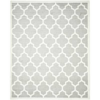 Safavieh Indoor/ Outdoor Amherst Light Grey/ Beige Rug (8' x 10') - Overstock