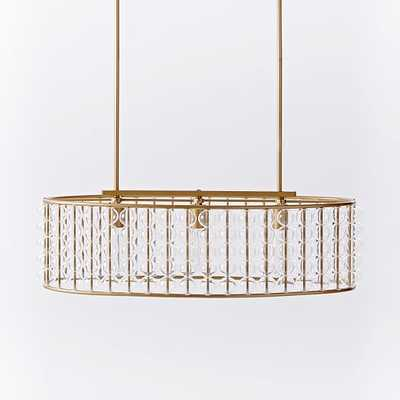 Marney Glass Chandelier - Oval - Antique Brass - West Elm