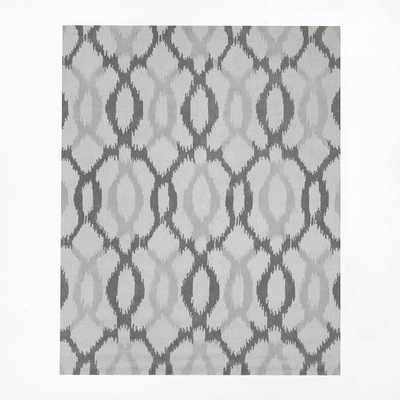 Ikat Links Wool Rug - Frost Gray - West Elm