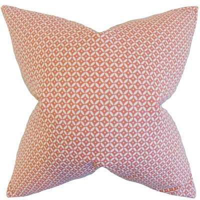"""Nima Geometric Cotton Throw Pillow - Blush - 18"""" H x 18"""" W - Down/Feather Fill - Wayfair"""