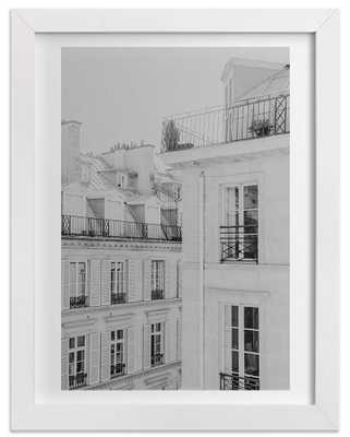 "Parisian Rooftops-11""x14""-Framed - Domino"