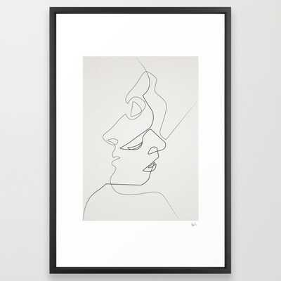 "Close - LARGE (26"" X 38"") - Vector Black Frame - Society6"