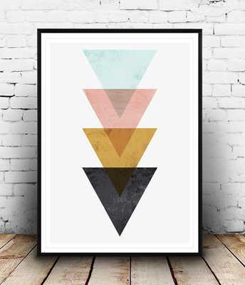 "Minimalist wall art, Triangle print-11""x14""-Framed - Etsy"