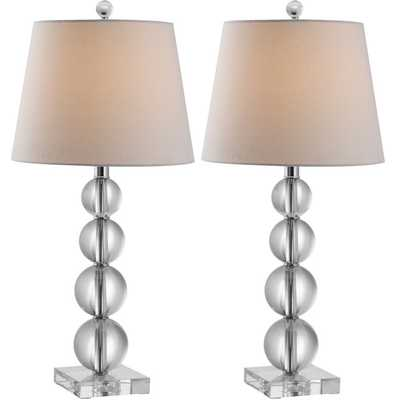 Safavieh Indoor 1-light Millie Crystal Table Lamps (Set of 2) - Overstock