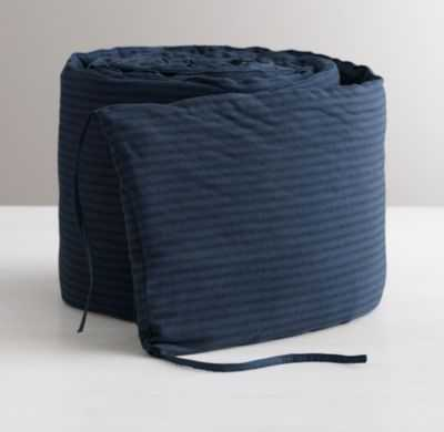 garment-dyed ticking stripe crib bumper - RH Baby & Child