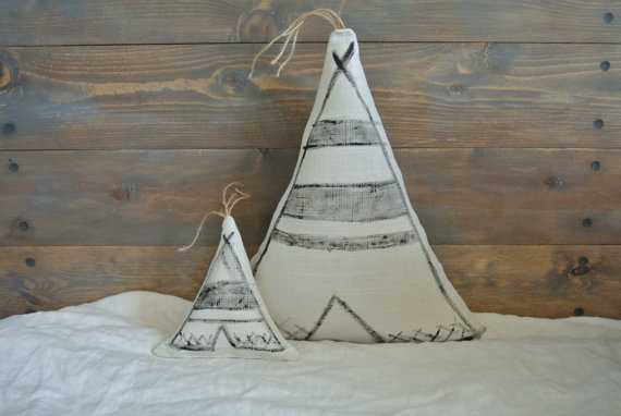 Large Teepee Pillow - Etsy